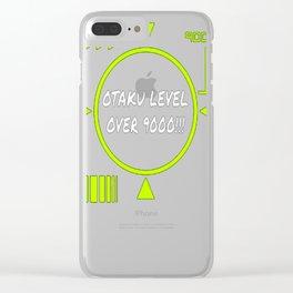 Otaku Level Over 9000 Shirt Anime Fans Clear iPhone Case