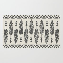 Tribal Feathers-Black & Cream