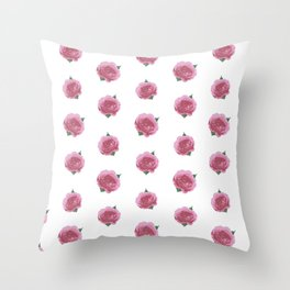 Splendid English Roses Throw Pillow