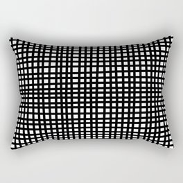 Black and White Gingham Rectangular Pillow