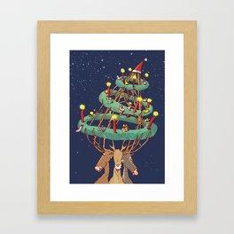 Advent-deers Framed Art Print