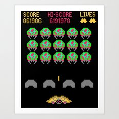 Zebes Invaders Art Print