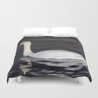 black swan Duvet Covers featuring Swan by WonderfulDreamPicture
