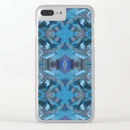 HDR Wild Flower Vision Geometry Clear iPhone Case