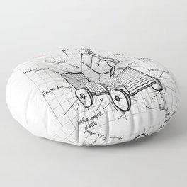 Trojan plan Floor Pillow