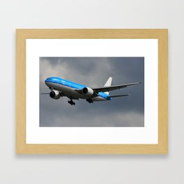 KLM Contrast Framed Art Print
