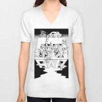 salt water V-neck T-shirts featuring Salt by Joshua Flinn