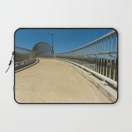 bridge approach new empty clear blue sky. Laptop Sleeve