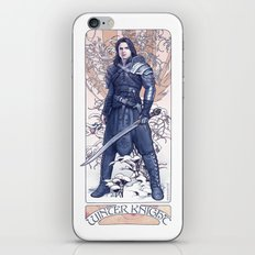The Winter Knight iPhone Skin
