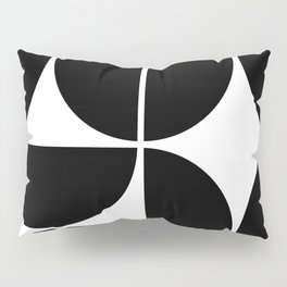 Mid Century Modern Black Square Pillow Sham
