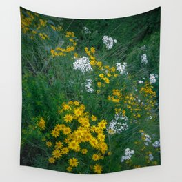 Flowers On the Edge Wall Tapestry