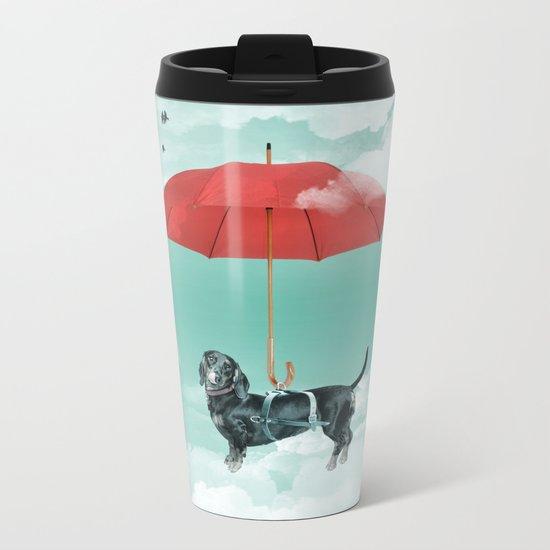 Dachshund chute Metal Travel Mug