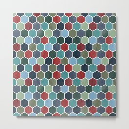 Colorful geometric tile pattern Metal Print