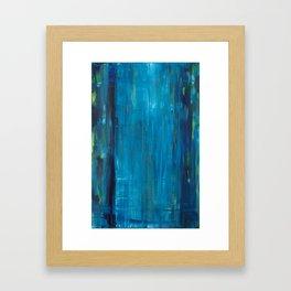 blue vertical Framed Art Print