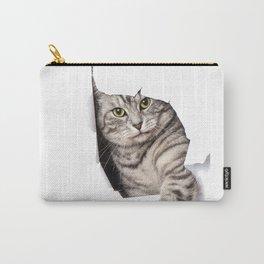 big cat kitten dog pet door pet cat Carry-All Pouch