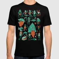 Wow! Creatures!  Mens Fitted Tee Black MEDIUM