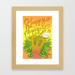 happy hungry sleepy Framed Art Print