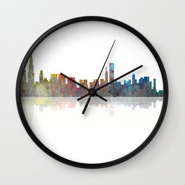 Chicago Skyline 1 BW1 Wall Clock