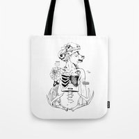 halloween Tote Bags featuring Halloween by Cassandra Jean