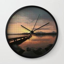 abendstimmung coastal evening Wall Clock