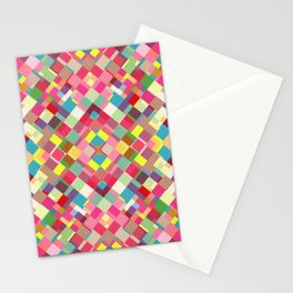 beautiful geometric pattern Stationery Cards