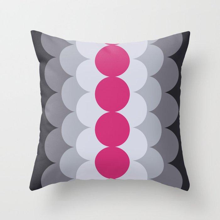 Gradual Pink Yarrow Throw Pillow