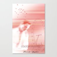 actor Canvas Prints featuring Colton Haynes - Actor by Sherazade's Graphics