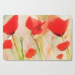 Poppies in a field Cutting Board