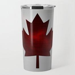 Metallic Canadian Flag Travel Mug