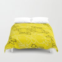 bunnies Duvet Covers featuring Bunnies by Michael Goodson
