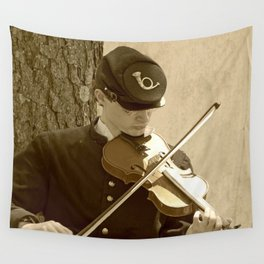 Civil War Fiddle Player Wall Tapestry