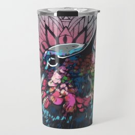 Saint bird Colibri unique stencil art painting Travel Mug