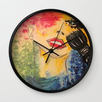 make up Wall Clocks featuring make up by BNK Design