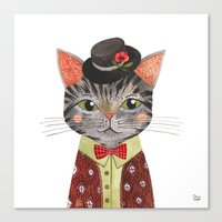 oana befort Canvas Prints featuring COOL CAT by Oana Befort