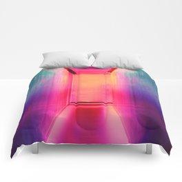 Neon Hallways Comforters
