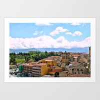 spain Art Prints featuring Spain by Brooke Armstrong