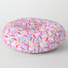 Pink Donut with Sprinkles Floor Pillow