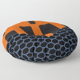 Red Striped Poison Dart Frog Abstract Floor Pillow