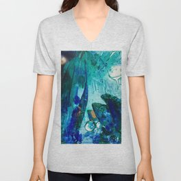 Bright Ocean Spaces, Tiny World Collection Unisex V-Neck