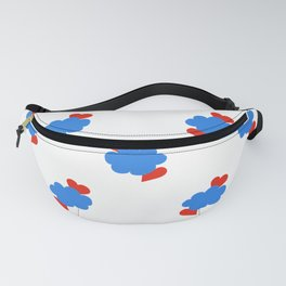 Cloud Hearts Red, White and Blue Sky Fanny Pack