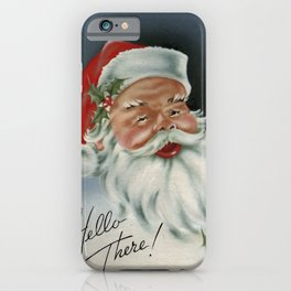 Hello there vintage santa portrait iPhone Case
