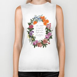 She is Clothed in Dignity and Strength and She Laughs without Fear of the Future Biker Tank