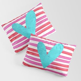 Soulmates Lines and Hearts Pillow Sham
