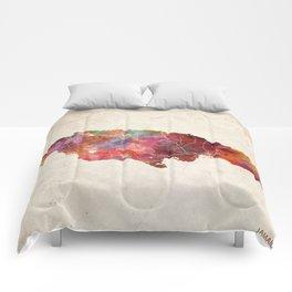 Jamaica map Comforters