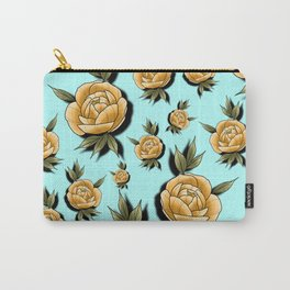 Peony Paradise Blue Carry-All Pouch