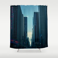 radio Shower Curtains featuring Radio City by Gunjan Marwah