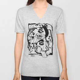 The Pretty People - b&w Unisex V-Neck