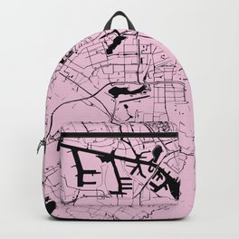 Amsterdam Pink on Black Street Map Backpack