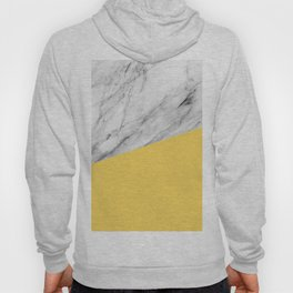 Marble and Primrose Yellow Color Hoody