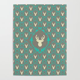 Oh Deer (white) Poster